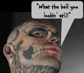 Skull OMG Tattoo