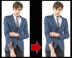 Tattoo Concealer on Businessman