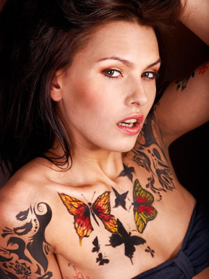Reasons to Get a Tattoo - Girl with Butterfly Tattoos