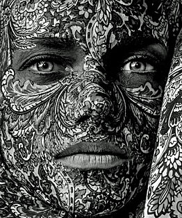 Face Covered with Tattoos