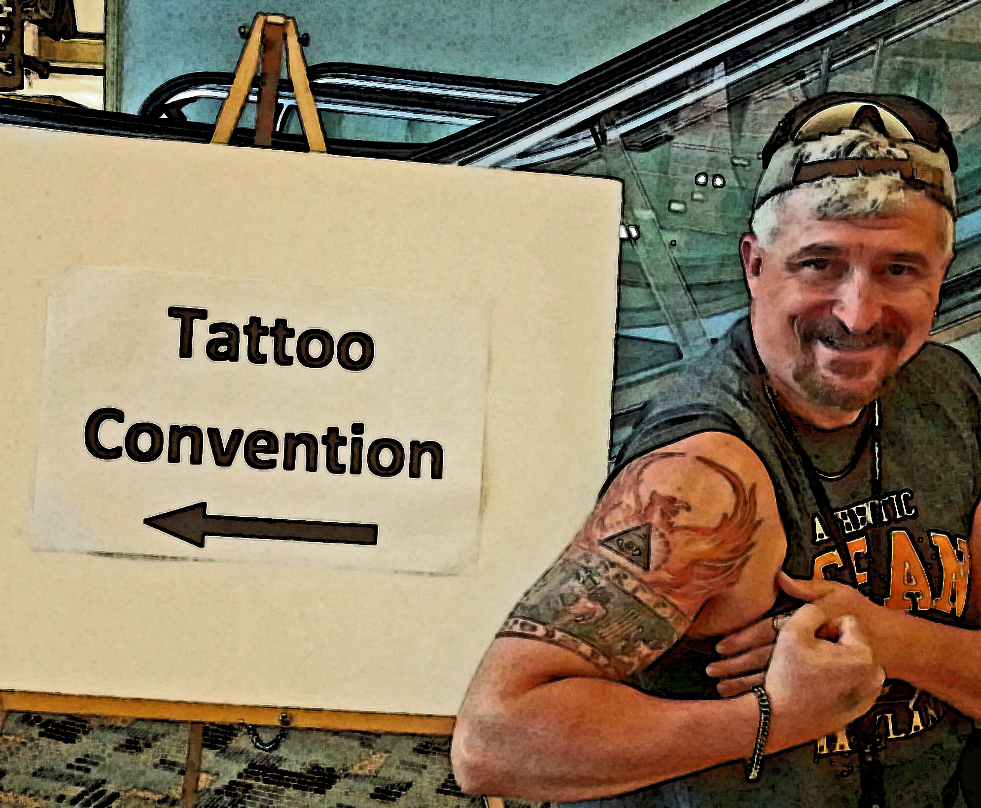 Me at a Tattoo Convention