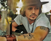 Johnny Depp - His Tattoos are His Story.